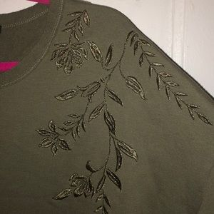 Embroidered F21 Hunter Green Oversized Dress/Top